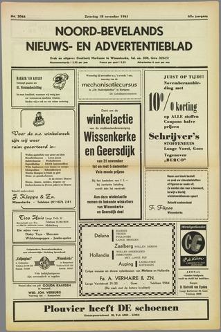 Noord-Bevelands Nieuws- en advertentieblad 1961-11-18