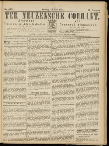Ter Neuzensche Courant. Algemeen Nieuws- en Advertentieblad voor Zeeuwsch-Vlaanderen / Neuzensche Courant ... (idem) / (Algemeen) nieuws en advertentieblad voor Zeeuwsch-Vlaanderen 1905-06-10
