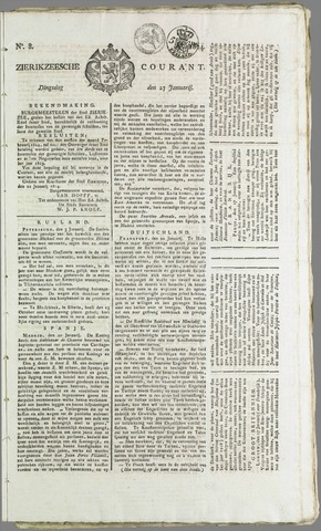 Zierikzeesche Courant 1824-01-27