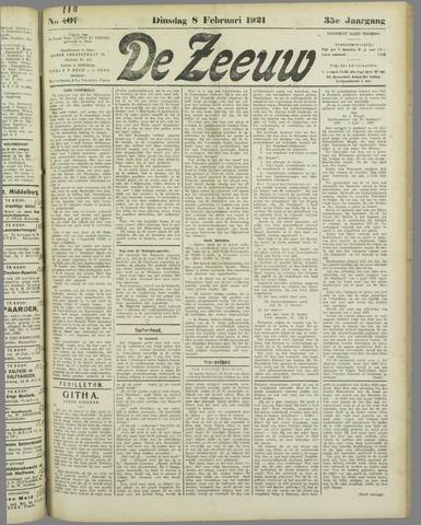 De Zeeuw. Christelijk-historisch nieuwsblad voor Zeeland 1921-02-08