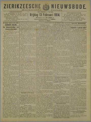 Zierikzeesche Nieuwsbode 1914-02-13