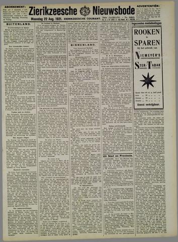 Zierikzeesche Nieuwsbode 1921-08-22