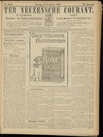 Ter Neuzensche Courant. Algemeen Nieuws- en Advertentieblad voor Zeeuwsch-Vlaanderen / Neuzensche Courant ... (idem) / (Algemeen) nieuws en advertentieblad voor Zeeuwsch-Vlaanderen 1912-11-16