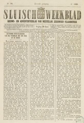 Sluisch Weekblad. Nieuws- en advertentieblad voor Westelijk Zeeuwsch-Vlaanderen 1866-06-29