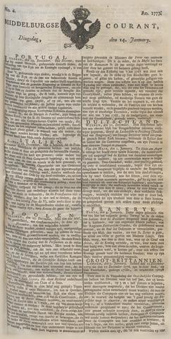 Middelburgsche Courant 1777-01-14
