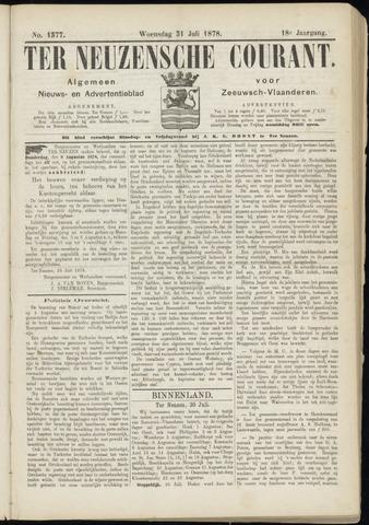 Ter Neuzensche Courant. Algemeen Nieuws- en Advertentieblad voor Zeeuwsch-Vlaanderen / Neuzensche Courant ... (idem) / (Algemeen) nieuws en advertentieblad voor Zeeuwsch-Vlaanderen 1878-07-31