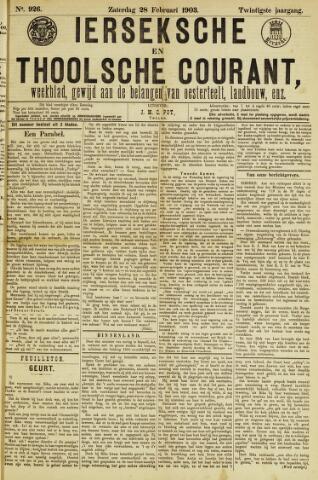 Ierseksche en Thoolsche Courant 1903-02-28