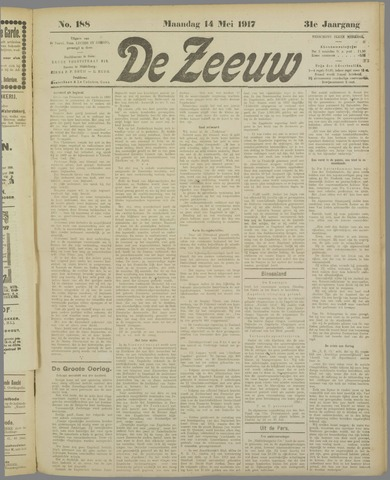 De Zeeuw. Christelijk-historisch nieuwsblad voor Zeeland 1917-05-14