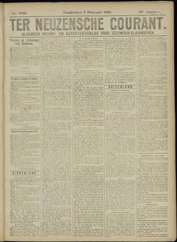 Ter Neuzensche Courant. Algemeen Nieuws- en Advertentieblad voor Zeeuwsch-Vlaanderen / Neuzensche Courant ... (idem) / (Algemeen) nieuws en advertentieblad voor Zeeuwsch-Vlaanderen 1920-02-05