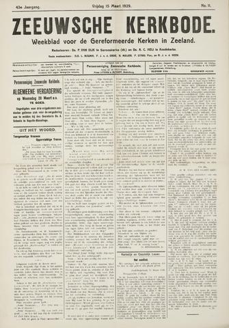 Zeeuwsche kerkbode, weekblad gewijd aan de belangen der gereformeerde kerken/ Zeeuwsch kerkblad 1929-03-15