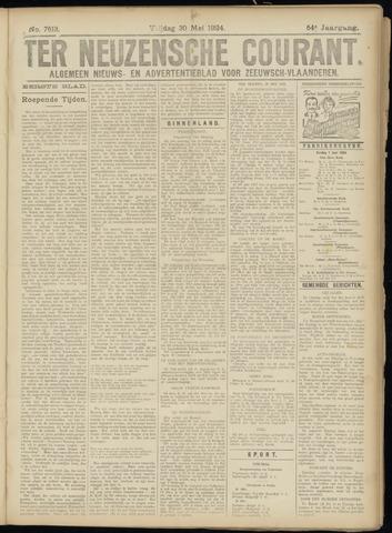 Ter Neuzensche Courant. Algemeen Nieuws- en Advertentieblad voor Zeeuwsch-Vlaanderen / Neuzensche Courant ... (idem) / (Algemeen) nieuws en advertentieblad voor Zeeuwsch-Vlaanderen 1924-05-30