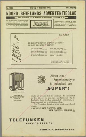 Noord-Bevelands Nieuws- en advertentieblad 1932-12-10