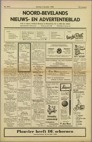 Noord-Bevelands Nieuws- en advertentieblad 1958-12-06