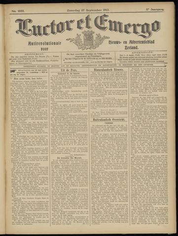 Luctor et Emergo. Antirevolutionair nieuws- en advertentieblad voor Zeeland / Zeeuwsch-Vlaanderen. Orgaan ter verspreiding van de christelijke beginselen in Zeeuwsch-Vlaanderen 1913-09-27