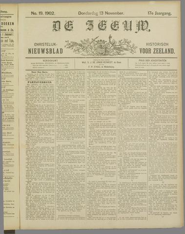 De Zeeuw. Christelijk-historisch nieuwsblad voor Zeeland 1902-11-13
