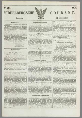 Middelburgsche Courant 1871-09-11