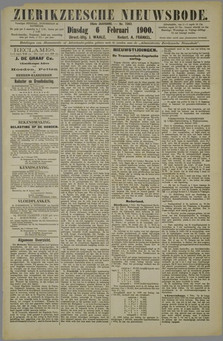 Zierikzeesche Nieuwsbode 1900-02-06