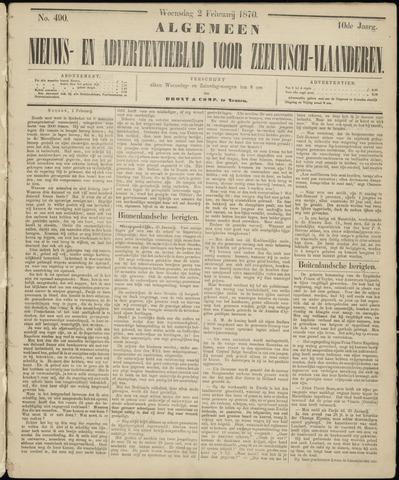 Ter Neuzensche Courant. Algemeen Nieuws- en Advertentieblad voor Zeeuwsch-Vlaanderen / Neuzensche Courant ... (idem) / (Algemeen) nieuws en advertentieblad voor Zeeuwsch-Vlaanderen 1870-02-02