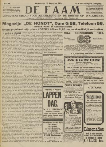 de Faam en de Faam/de Vlissinger 1924-08-20