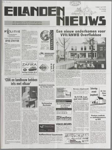 Eilanden-nieuws. Christelijk streekblad op gereformeerde grondslag 2000-04-07
