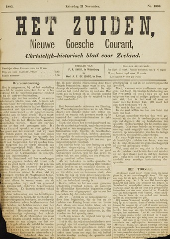 Het Zuiden, Christelijk-historisch blad 1885-11-21