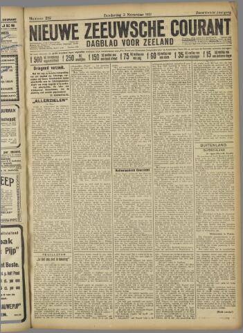 Nieuwe Zeeuwsche Courant 1921-11-03
