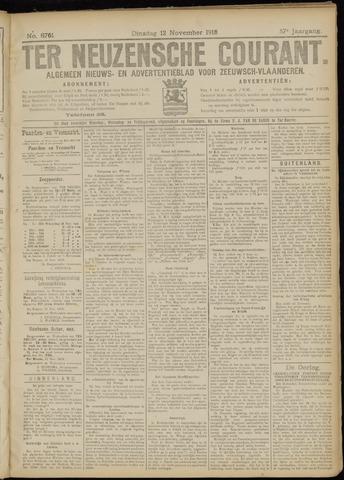 Ter Neuzensche Courant. Algemeen Nieuws- en Advertentieblad voor Zeeuwsch-Vlaanderen / Neuzensche Courant ... (idem) / (Algemeen) nieuws en advertentieblad voor Zeeuwsch-Vlaanderen 1918-11-12