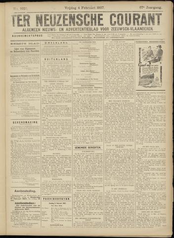 Ter Neuzensche Courant. Algemeen Nieuws- en Advertentieblad voor Zeeuwsch-Vlaanderen / Neuzensche Courant ... (idem) / (Algemeen) nieuws en advertentieblad voor Zeeuwsch-Vlaanderen 1927-02-04