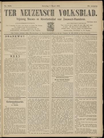 Ter Neuzensch Volksblad. Vrijzinnig nieuws- en advertentieblad voor Zeeuwsch- Vlaanderen / Zeeuwsch Nieuwsblad. Nieuws- en advertentieblad voor Zeeland 1912-03-02