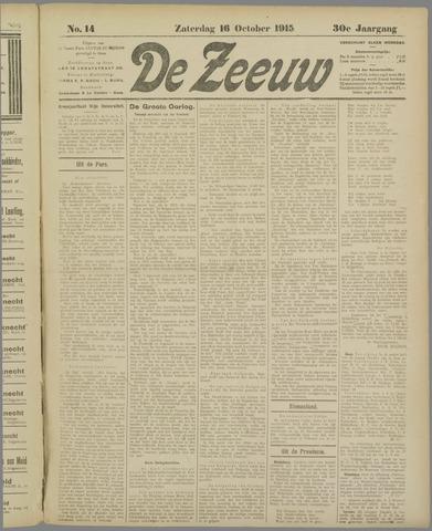 De Zeeuw. Christelijk-historisch nieuwsblad voor Zeeland 1915-10-16