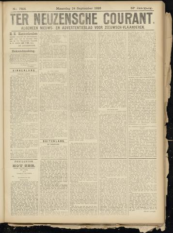 Ter Neuzensche Courant. Algemeen Nieuws- en Advertentieblad voor Zeeuwsch-Vlaanderen / Neuzensche Courant ... (idem) / (Algemeen) nieuws en advertentieblad voor Zeeuwsch-Vlaanderen 1923-09-24