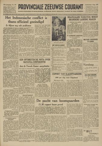 Provinciale Zeeuwse Courant 1949-08-04