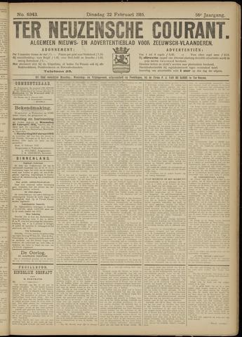 Ter Neuzensche Courant. Algemeen Nieuws- en Advertentieblad voor Zeeuwsch-Vlaanderen / Neuzensche Courant ... (idem) / (Algemeen) nieuws en advertentieblad voor Zeeuwsch-Vlaanderen 1916-02-22