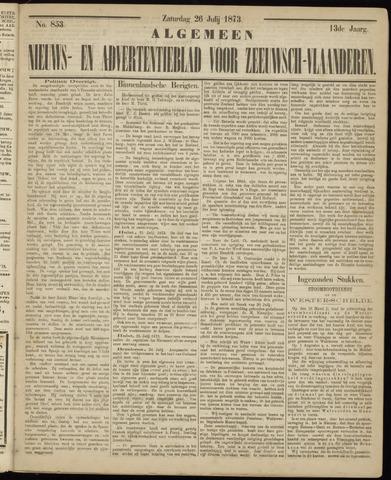 Ter Neuzensche Courant. Algemeen Nieuws- en Advertentieblad voor Zeeuwsch-Vlaanderen / Neuzensche Courant ... (idem) / (Algemeen) nieuws en advertentieblad voor Zeeuwsch-Vlaanderen 1873-07-26