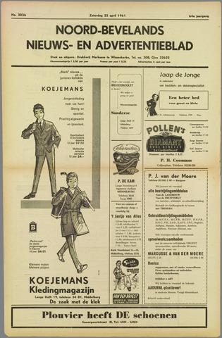 Noord-Bevelands Nieuws- en advertentieblad 1961-04-22