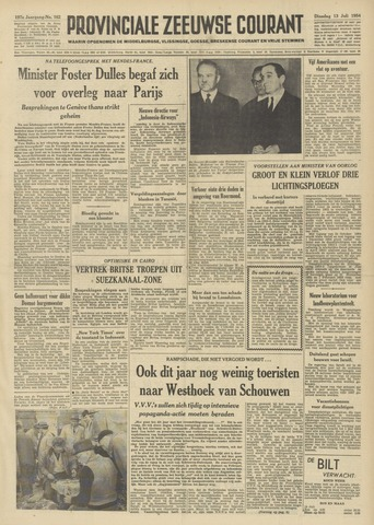 Provinciale Zeeuwse Courant 1954-07-13