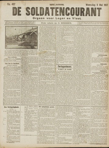 De Soldatencourant. Orgaan voor Leger en Vloot 1917-05-09