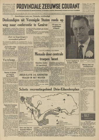 Provinciale Zeeuwse Courant 1958-06-27