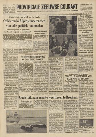 Provinciale Zeeuwse Courant 1958-10-14