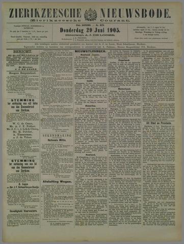 Zierikzeesche Nieuwsbode 1905-06-29