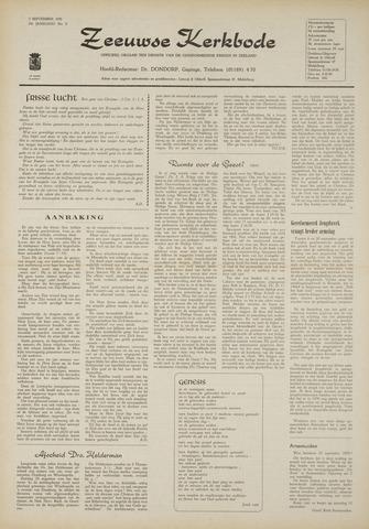 Zeeuwsche kerkbode, weekblad gewijd aan de belangen der gereformeerde kerken/ Zeeuwsch kerkblad 1970-09-03
