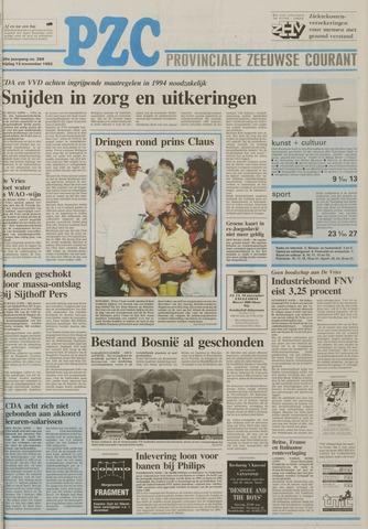Provinciale Zeeuwse Courant 1992-11-13