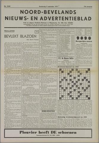 Noord-Bevelands Nieuws- en advertentieblad 1971-09-09