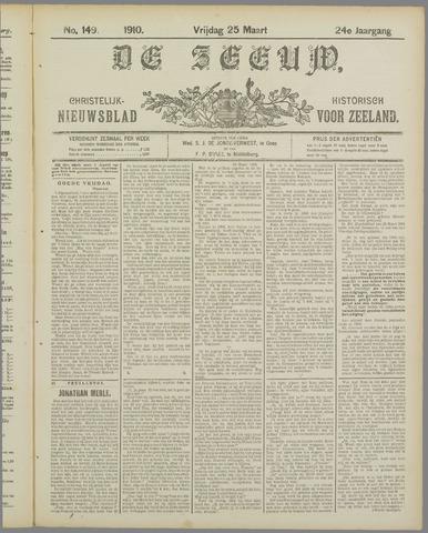 De Zeeuw. Christelijk-historisch nieuwsblad voor Zeeland 1910-03-25