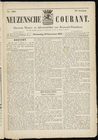 Ter Neuzensche Courant. Algemeen Nieuws- en Advertentieblad voor Zeeuwsch-Vlaanderen / Neuzensche Courant ... (idem) / (Algemeen) nieuws en advertentieblad voor Zeeuwsch-Vlaanderen 1876-12-20