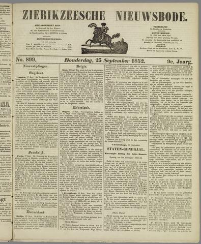 Zierikzeesche Nieuwsbode 1852-09-23
