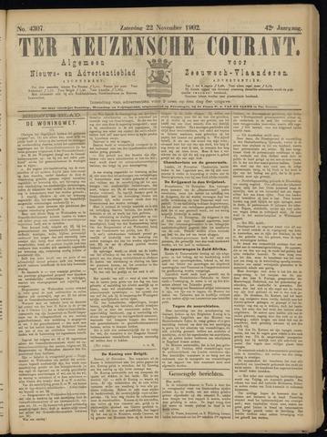 Ter Neuzensche Courant. Algemeen Nieuws- en Advertentieblad voor Zeeuwsch-Vlaanderen / Neuzensche Courant ... (idem) / (Algemeen) nieuws en advertentieblad voor Zeeuwsch-Vlaanderen 1902-11-22