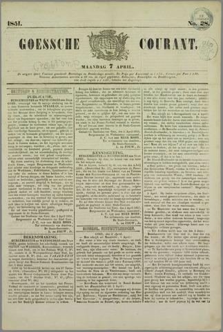Goessche Courant 1851-04-07
