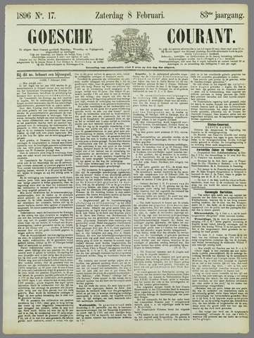 Goessche Courant 1896-02-08