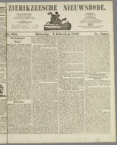 Zierikzeesche Nieuwsbode 1852-02-02